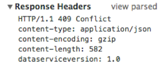 Chrome on MAC OS X - Response Headers from Dev Tools
